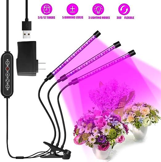 Lámpara de Crecimiento Lampara de Plantas Bawoo 60 LED Lampara de ...