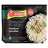 Amoy Straight to Wok Medium Noodles (2 per pack - 300g) - Pack of 2
