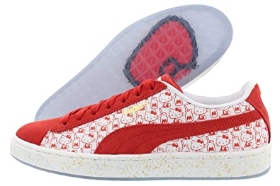 c50d0f3502ef0 Puma Boys' Suede Classic X Hello Kitty 6 M US Bright Red/White: Buy ...