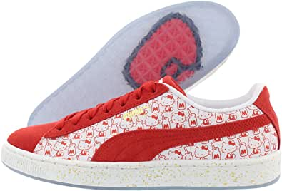 PUMA Suede Classic X Hello Kitty Mujeres Rojo Suede Sneakers Zapatos