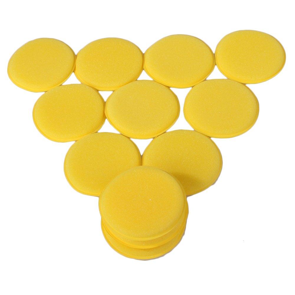 WLM - Spugnette per l'applicazione della cera su veicoli, confezione da 12 pezzi