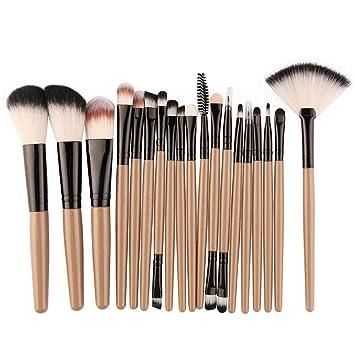 Ju&Lim 18 Piezas De Pinceles De Maquillaje Set: Brochas Kit ...