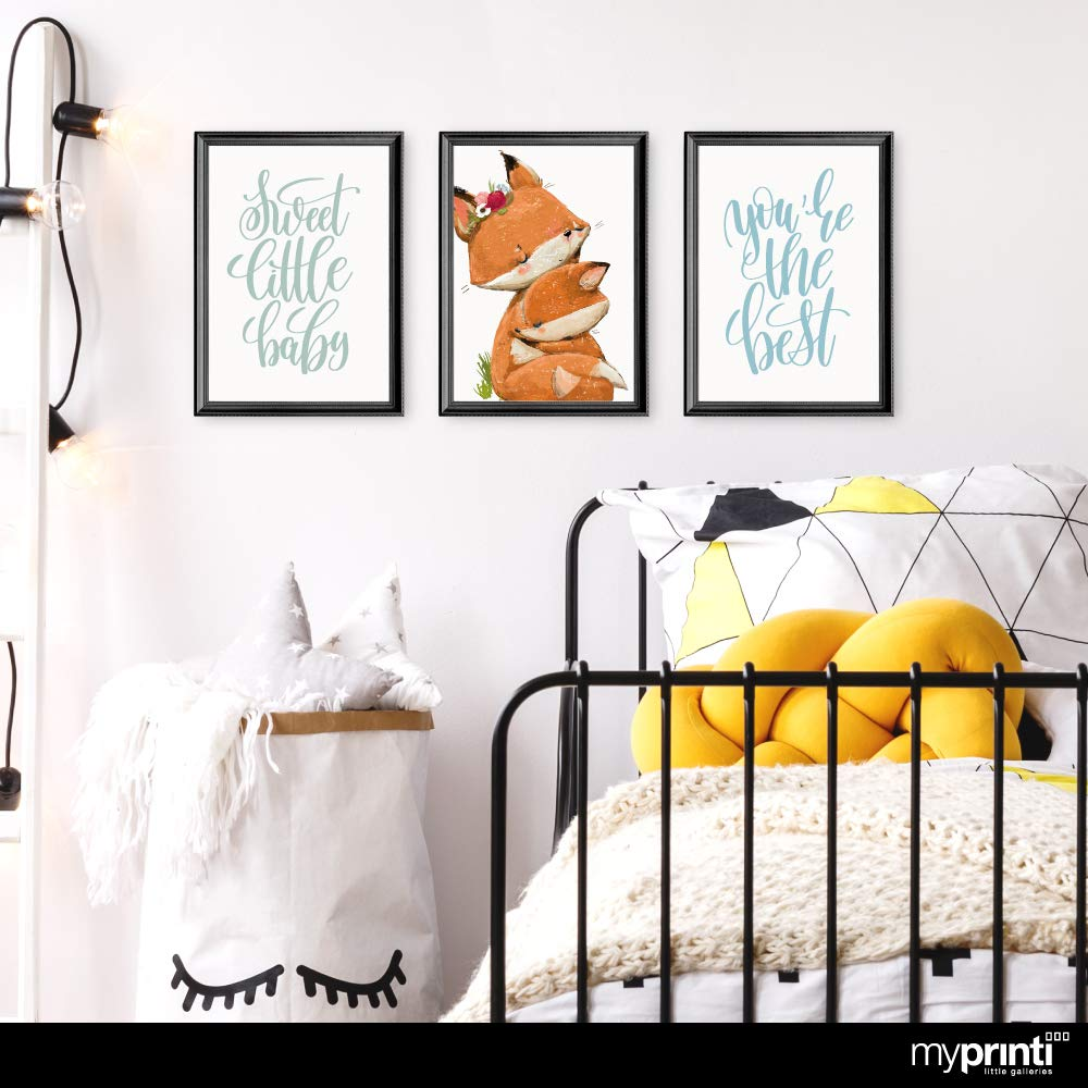 Immagini della Camera dei Bambini Volpi myprinti/® Set di 3 Poster per la Camera dei Bambini Giovane Ragazza Bambino Youre The Best Formato DIN A3 Sweet Little Baby