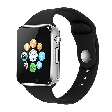 IQSOF - Reloj Inteligente con Bluetooth, teléfono móvil con Tarjeta de Sim, Pantalla táctil