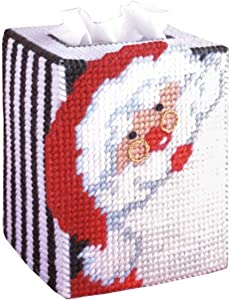 Tobin 1488 Santa Tissue Box Plastic Canvas Kit