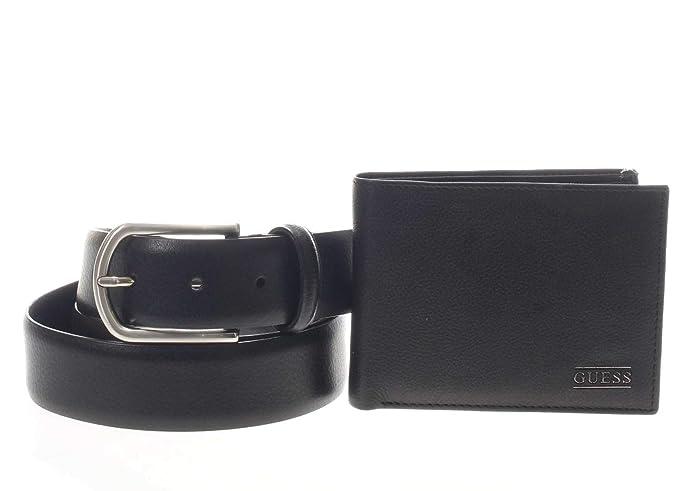 Set portafoglio e cinta uomo Gerard gift box Guess nero
