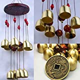 iHappy Wood 10 Bells Copper Wind Chimes Outdoor Living Garden Noisemaker Valentine's Day Gift For Sale