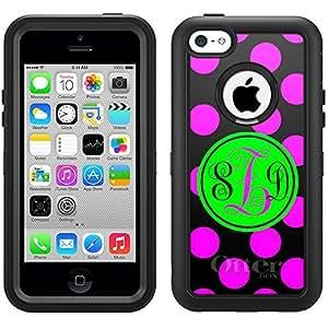 Monogram Otterbox Defender Pink Polka Dots iPhone 6 4.7 Case