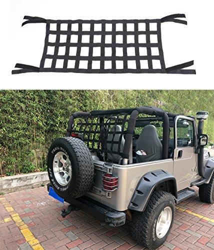 BESTAOO Cargo Net for Jeep, Jeep Wangler Cargo Restraint Net System Trail Cargo Net for Jeep Wrangler JK TJ - Black
