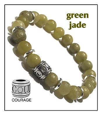 Amazon.com: Natural Jade Bracelets, Beaded Meditation ...