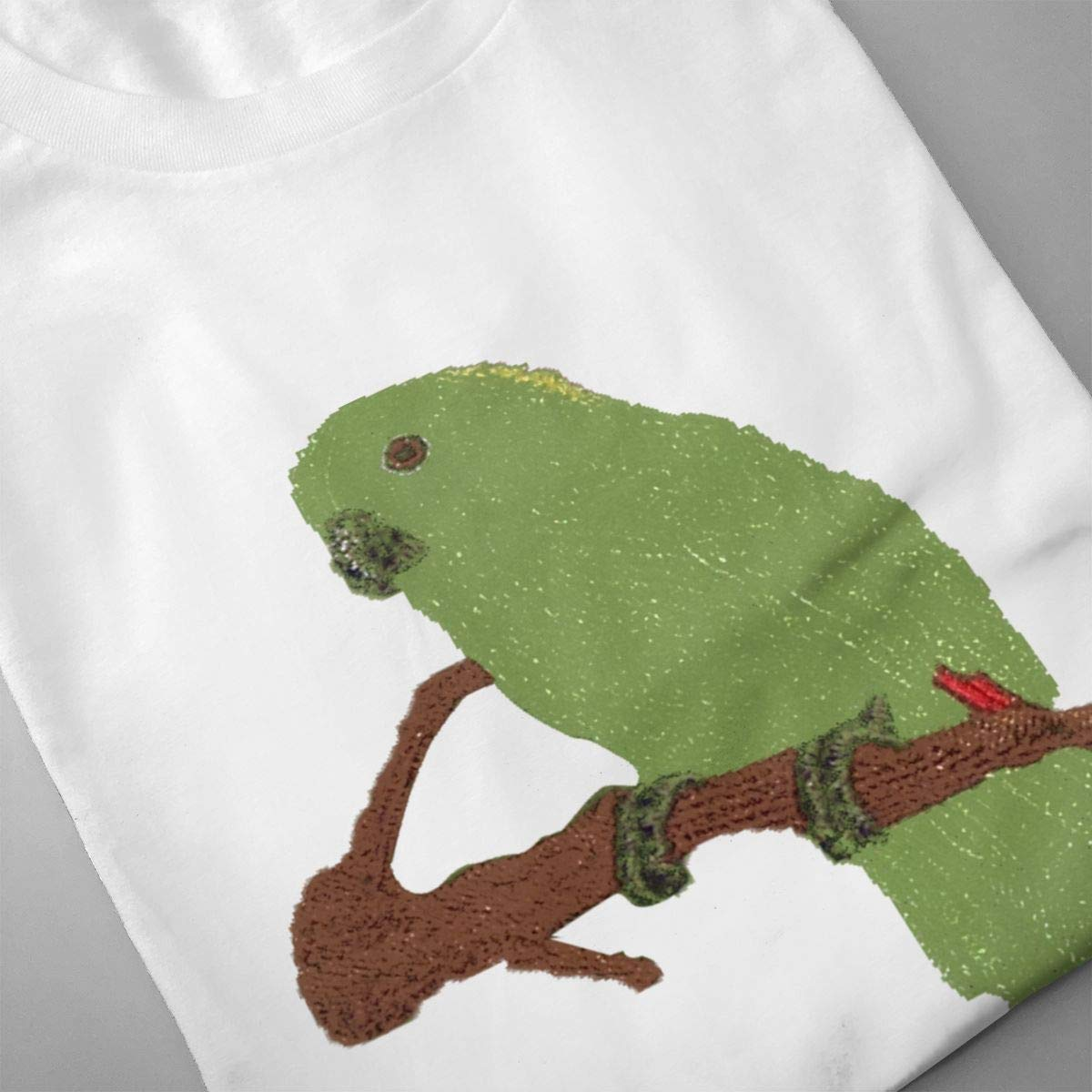 Smooffly Mens Parrot Fashion Crew-Neck Coton Short Sleeve T Shirts