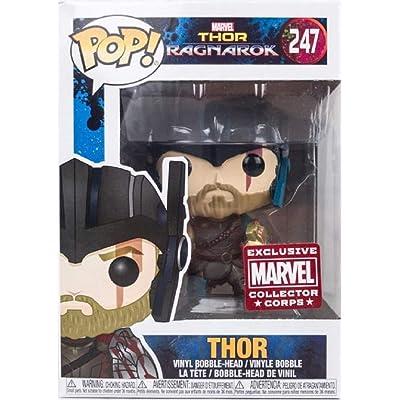 Funko Pop Vinyl Marvel Thor Ragnarok Collector Corps Thor With Helmet Figure 247: Toys & Games