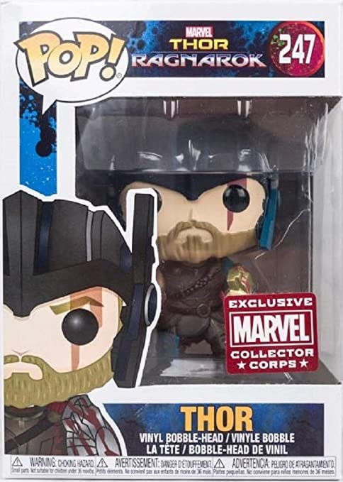 Amazon Com Funko Pop Vinyl Marvel Thor Ragnarok Collector Corps Thor With Helmet Figure 247 Toys Games