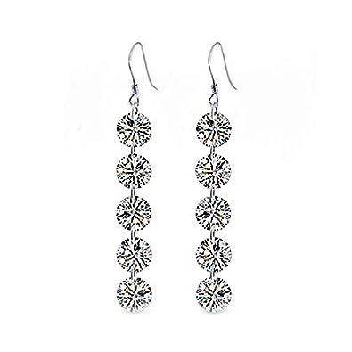 d6688b1f5 Amazon.com: Classy Elegant Austrian Crystal Mega Drop Rhinestone Earrings:  Jewelry