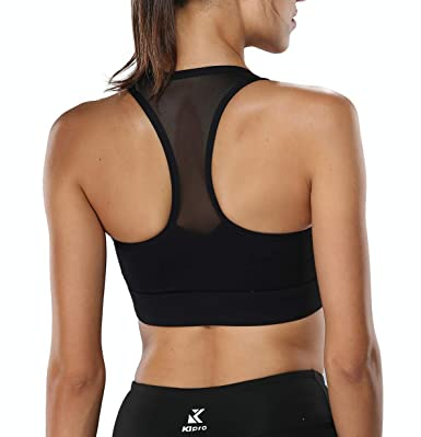 ade1958d67b4b FIRM ABS Support Yoga Bra Wirefree Workout Running Bra Top for Women Black   Amazon.co.uk  Clothing