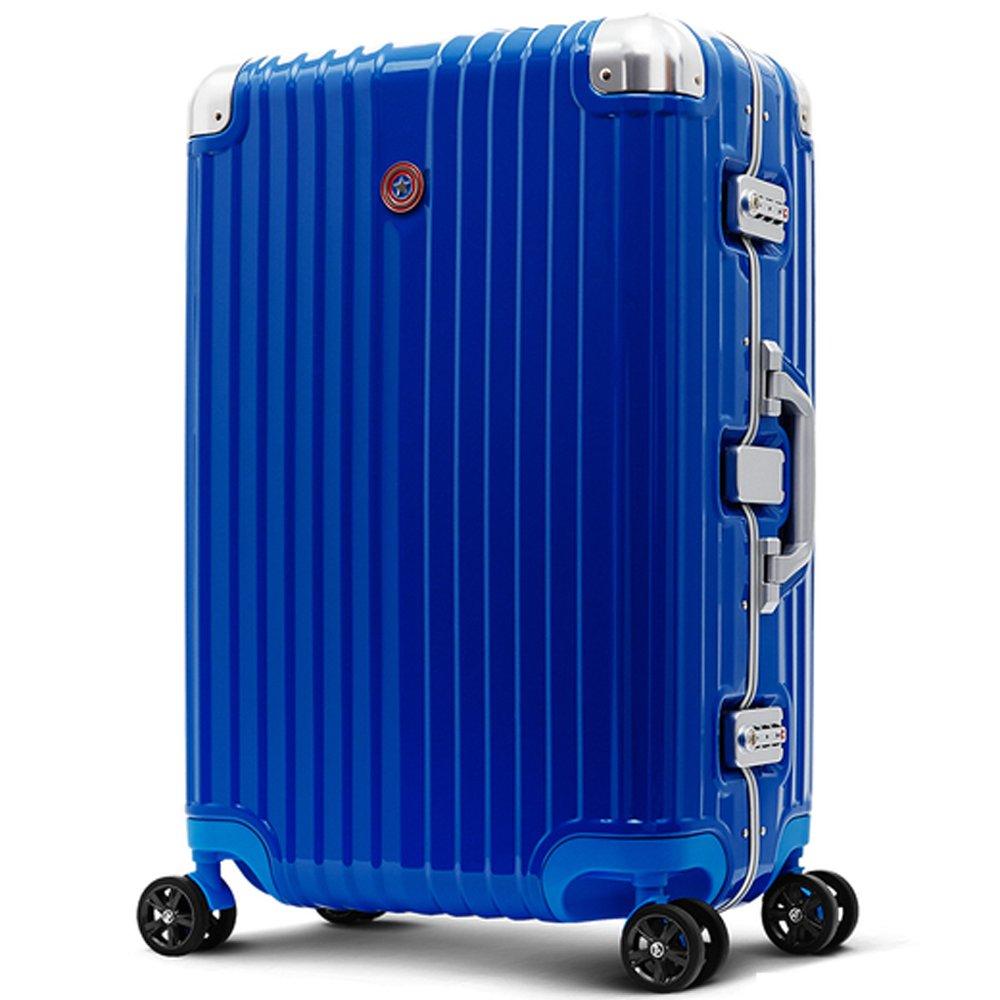 DESENO スーツケース MARVEL CaptainAmerica マーベル キャプテンアメリカ デセノ ブランド キャリーバック マーベルグッズ マーベルかばん マーベルバッグ アルミフレーム TSAロック OKOBAN キャラクター B076Z8HFJNM