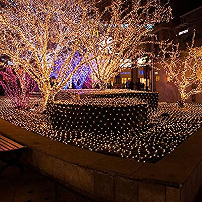 Sunvito 4.9ft x 4.9ft 100 Leds Decorative Net Mesh Fairy Lights Twinkle Lighting for Party Christmas Wedding