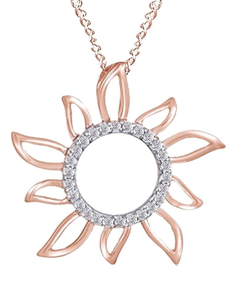 Amazon.com: Ronda Cut Blanco natural Diamond Collar Con ...