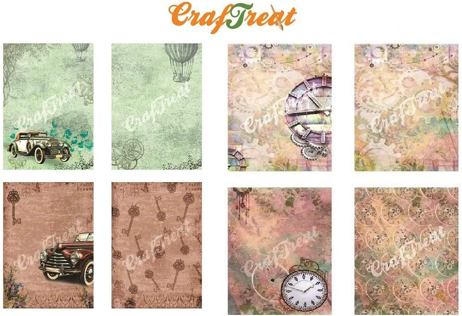 Car and Gears CrafTreat Decoupage Paper