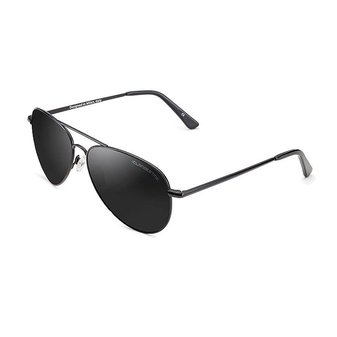 Amazon.com: Clandestine Aviator - Gafas de sol polarizadas ...