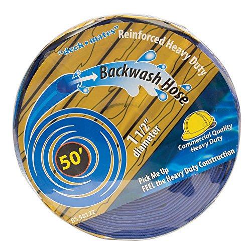 Blue Torrent BS 58122 Commercial Backwash Hose for Swimming Pools, 50' x 1.5