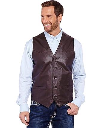 Men's Cowboy Leather Shop Cowboy Shop Leather Cowboy Shop Men's Vest Vest N0wym8nvO