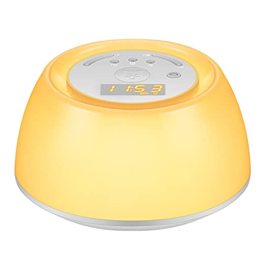 Oria Luces-Despertador Ligero, Wake Up Light con Función Sunrise Simulation, Snooze y