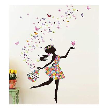 Amazon Com Alrens 51 X 68 Inch Butterfly Diy Wall Sticker Decor