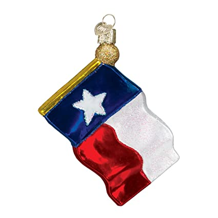 old world christmas ornaments texas state flag glass blown ornaments for christmas tree - Texas Christmas Ornaments