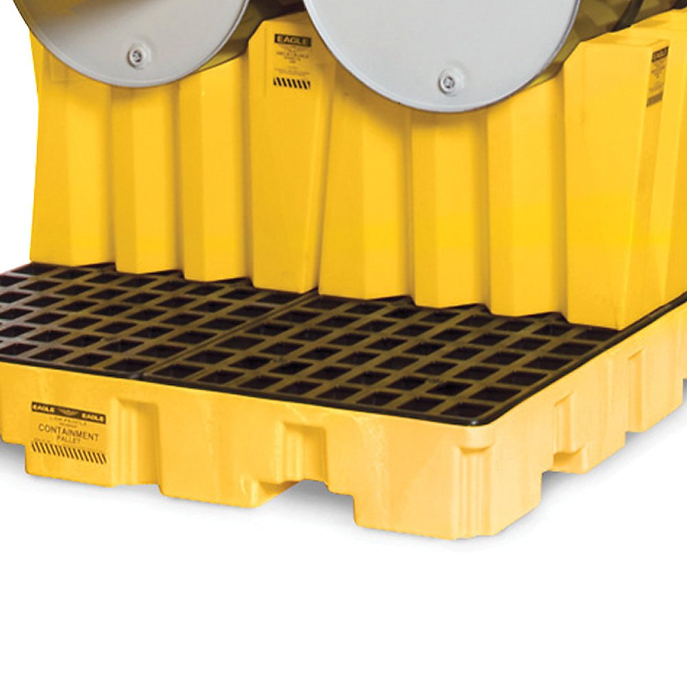 Eagle 1605 Polyethylene Drum Cradle, Single, 26-1/2'' Length x 29'' Width x 22-1/2'' Height, 2000 lbs Load Capacity