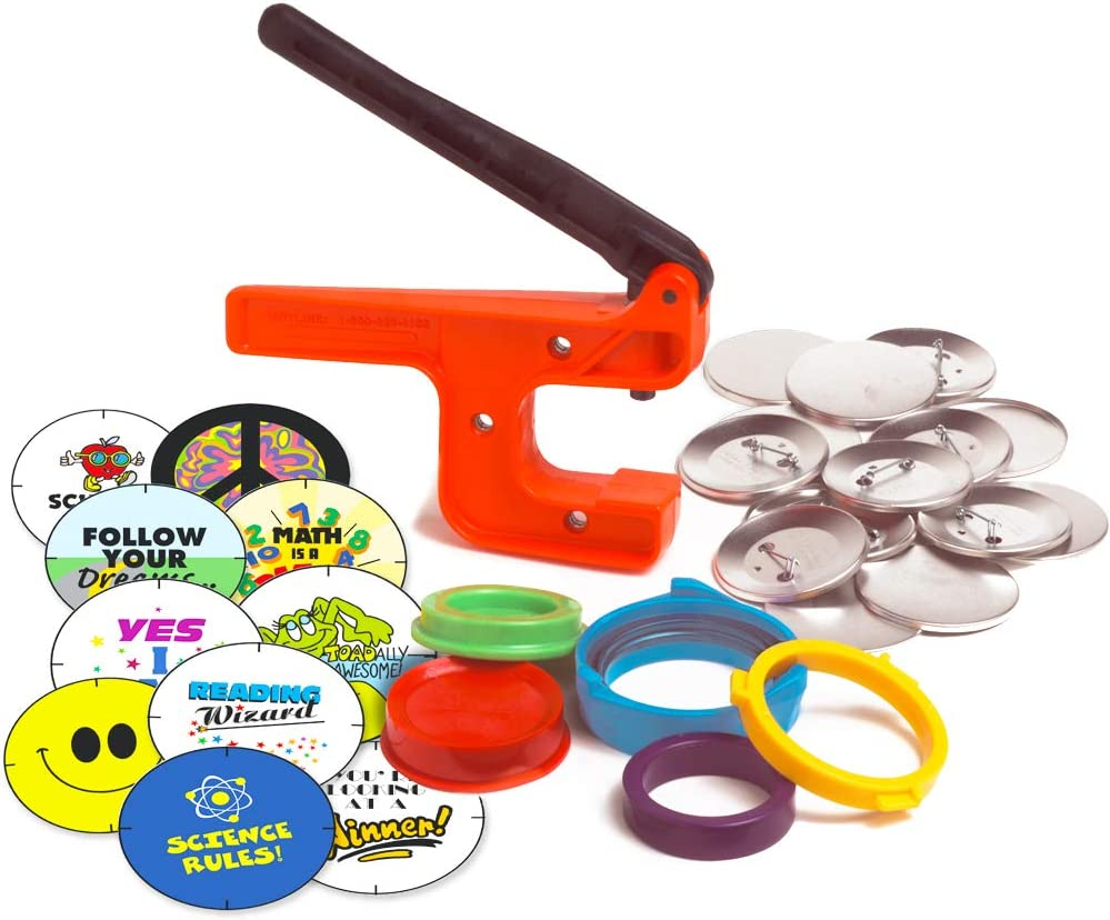 Button-Maker World/'s Lowest-Priced Button MakerButton Machine! 2 14 Starter Kit