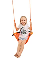 Kid Swing Seat, Duty Rope Swing Child Hanging Swing Chair for 2-15,Playground, Indoor, Out door, Garden, Household with Swing Straps(200KG)