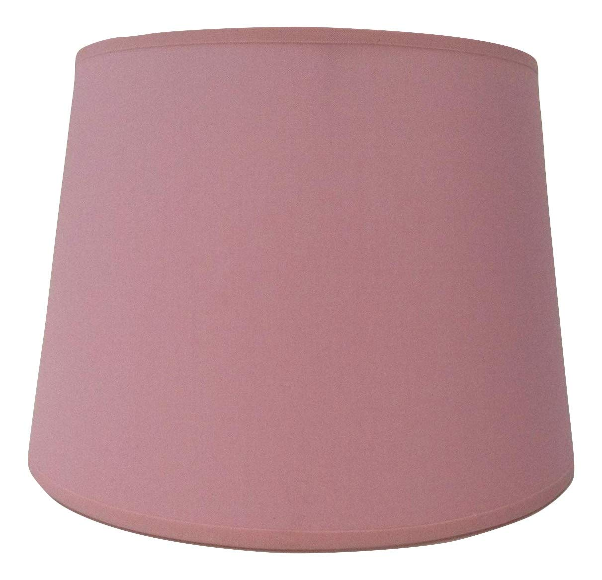 10'' Empire Pink Cotton Fabric Lampshade Light Lamp Shade Table Handmade ArG Lighting