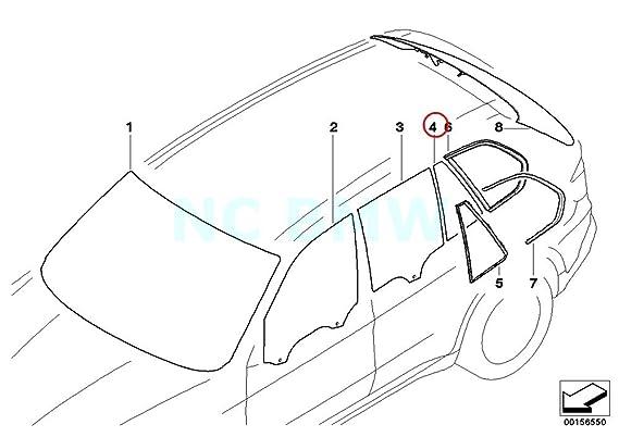 Amazon Com Bmw Genuine Left Black Fixed Door Window Automotive