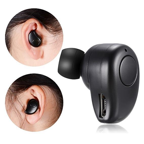 PChero Auriculares inalámbricos Bluetooth mini pequeñísimos invisibles con micrófono para teléfonos inteligentes, calidad de sonido