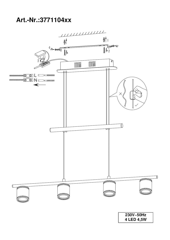 trio leuchten led balken cassini in nickel matt acyrl klar satiniert 877110407. Black Bedroom Furniture Sets. Home Design Ideas