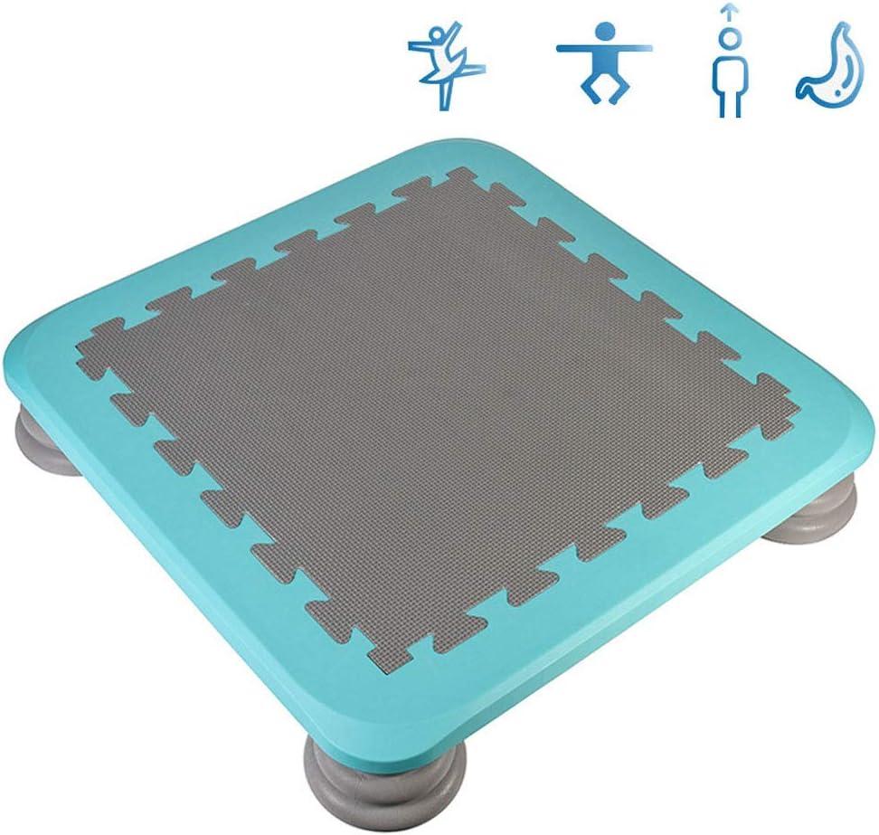 LXXTI Cama Elástica para Exterior E Interior, Trampolín para Niños, Mini Trampolín De Interior, Equipo Deportivo De Entrenamiento Sensorial, Fácil De Instalar, 65×65×12.5 Cm