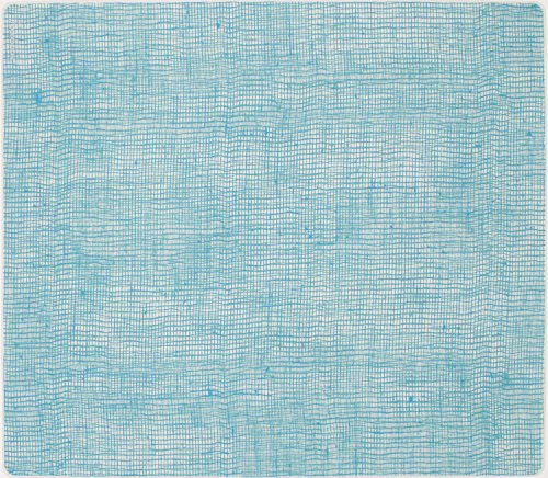 modern-twist Silicone Placemat, Linen Pattern, Seafoam Blue