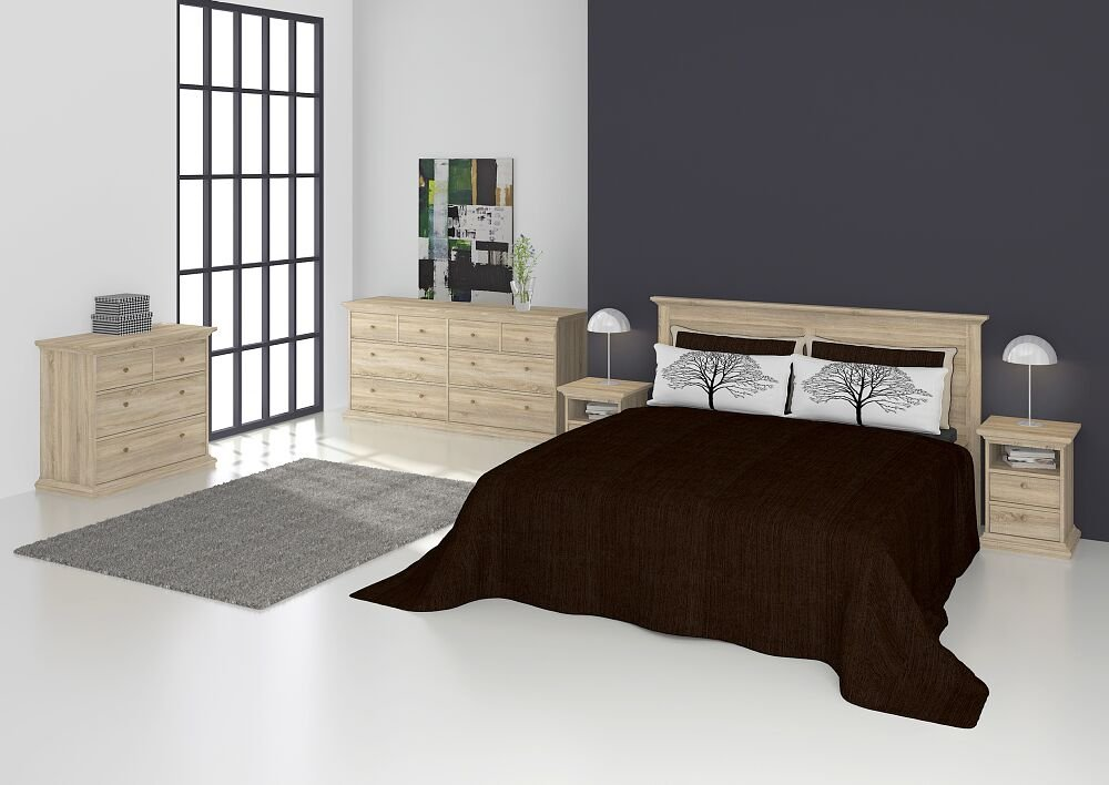 Dynamic24 Nachtschrank Paris Nachtkommode Nachttisch Nako Beistelltisch Schlafzimmer Eiche Dekor