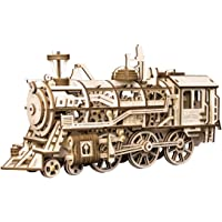 ROKR 3D Propelled Mechanical Locomotive Wooden Puzzle on Birthday/Anniversary/Valentine's Day/Christmas(Locomotive)