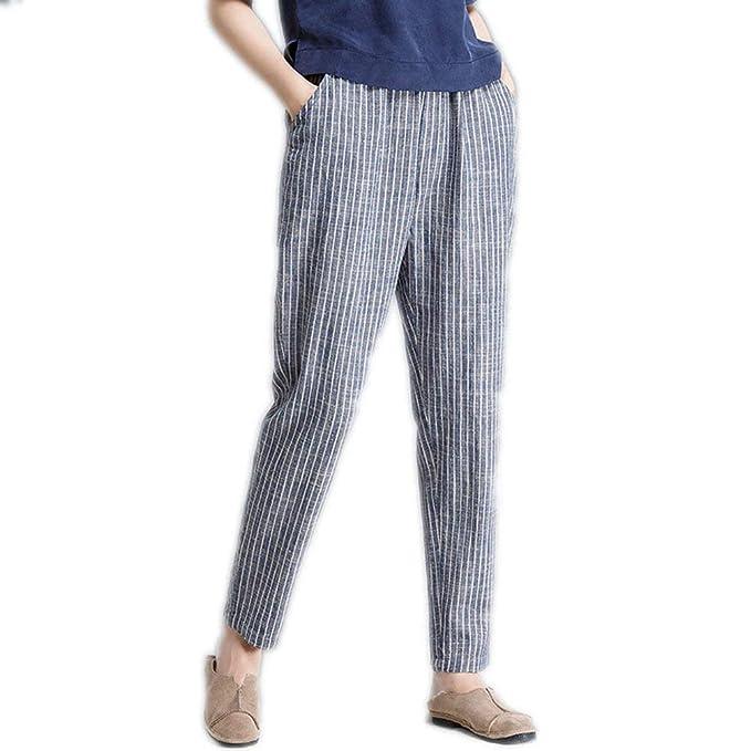 02ce59ea Pantalones Mujer Fashion Anchos Pantalones Verano Modernas Flecos Elegantes  Casual Único Elastische Taille Pantalon Lino Pantalones Baggy Pantalones De  Las ...