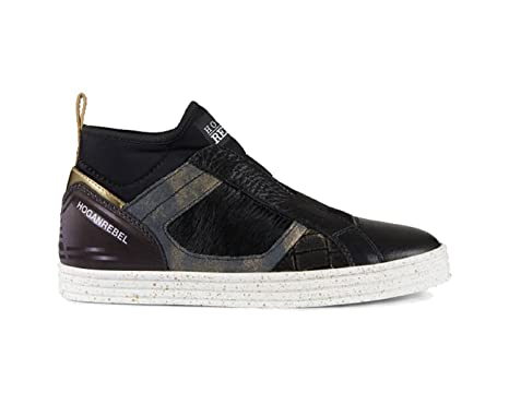 a1cb8dd49c Amazon.com: Ben Hogan Hogan Sneakers in Black Leather, Womens.: Clothing