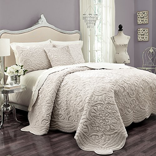 Vue Signature Plush Décor Faux Fur Coverlet, Queen, Ivory
