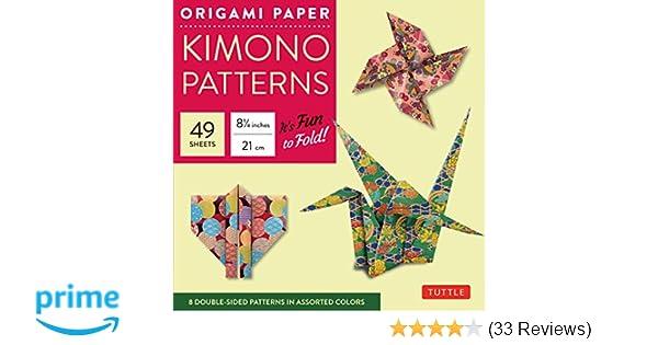 Amazon Origami Paper Kimono Patterns Large 8 14 48