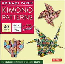 9ff608234 Origami Paper - Kimono Patterns - Large 8 1 4