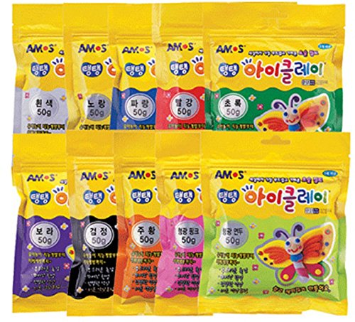 AMOS Clay 50g (1.8oz) Set of 10 Colors / Very Soft and - De Amo Mall