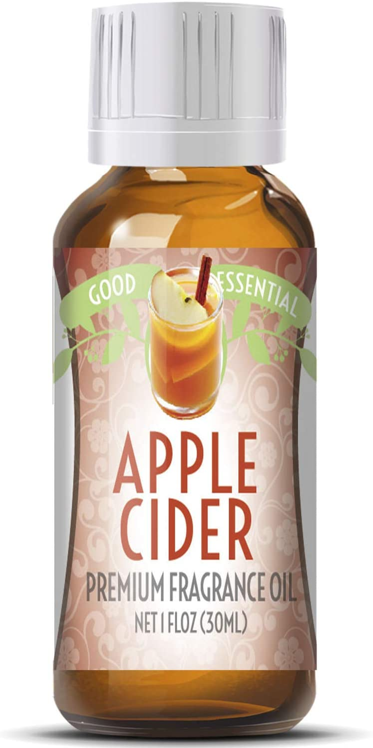 Apple Cider Scented Oil by Good Essential (Huge 1oz Bottle - Premium Grade Fragrance Oil) - Perfect for Aromatherapy, Soaps, Candles, Slime, Lotions, and More!