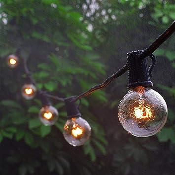 Luces navideñas Cuerda de Navidad luz chicande boda jardín fiesta árbol calle calle luces hadas lámparas vintage al aire libre: Amazon.es: Bricolaje y herramientas