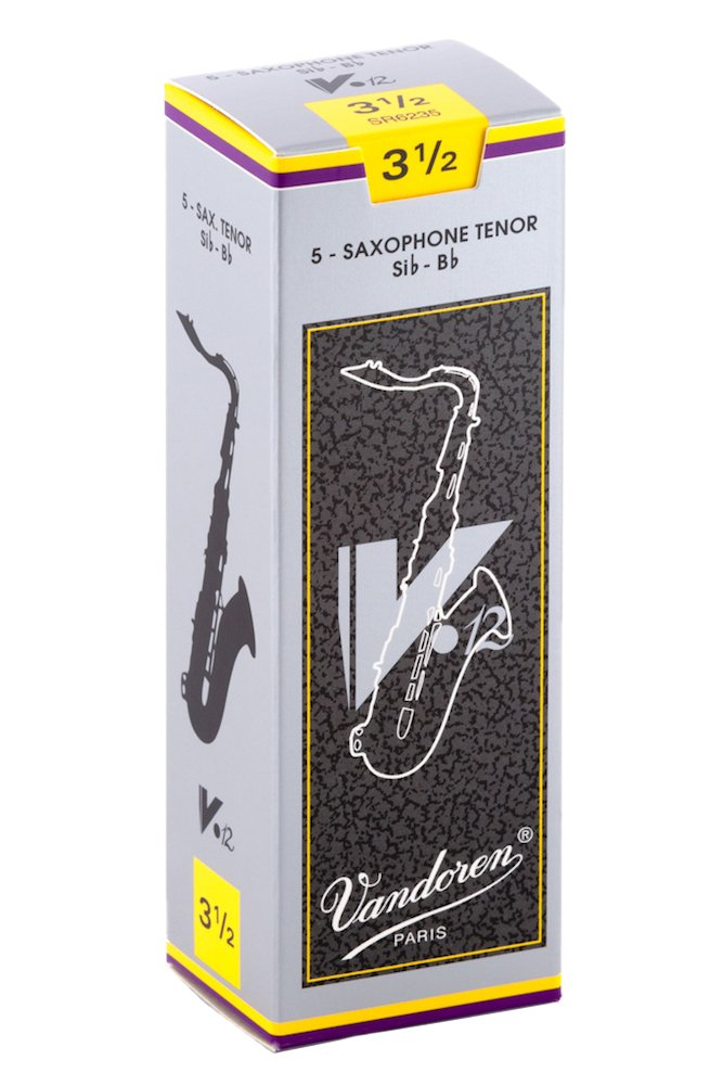 Vandoren SR6235 Tenor Sax V.12 Reeds Strength 3.5; Box of 5