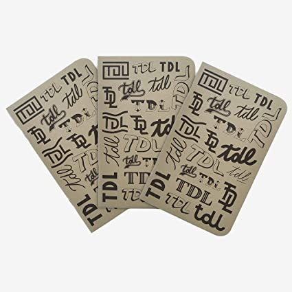 Cuaderno de notas TDL Typo – Pack de 3 cuadernos pequeños de bolsillo fabriqués en Francia de 48 hojas con renglones: Amazon.es: Oficina y papelería